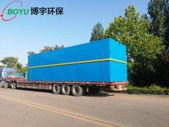 一台11米长地埋式污水处理设备完工发往淄博